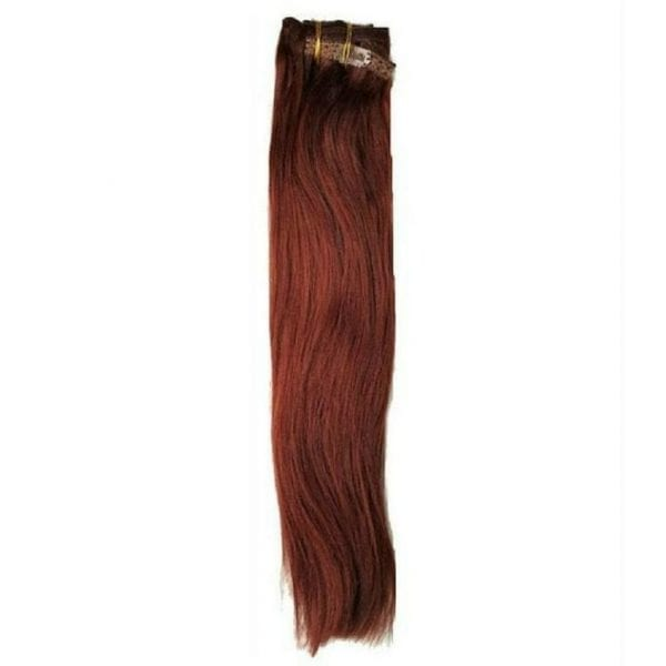 Clip In Extensions Cherry Red